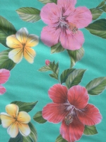 """Бифлекс """"Цветы на мятно - бирюзовом фоне"""""""
