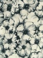 """Евро - Сатин """"Серые цветы"""" на молочном фоне"""