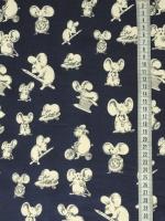 """Хлопок сорочечный """"Маленькие мышки """""""