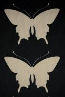 """Креп """"Бежевые бабочки"""" черный"""