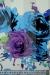 """Шифон """"Летние цветы"""" фиолетово - голубые"""