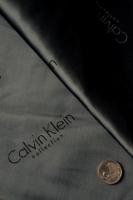 """Вискоза подкладочная именная """"Calvin Klein"""" темно-серая"""