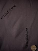 """Вискоза подкладочная именная """"Dolce & Gabbana"""" коричнево-бордовая"""