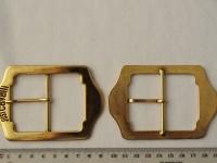 Украшение Декоративное УД-0026 Пряжка для одежды Большая золотистая