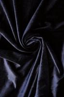 """Бархат на трикотажной основе """"Темно-синий"""""""