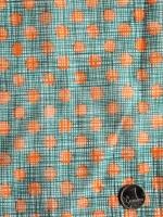 """Батист """"Цветные горошки"""" оранжевый"""