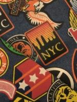 """Джинс плательно - костюмный """"Логотипомания NYC"""""""