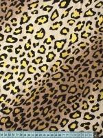 """Хлопок """"Леопард"""" желтый"""