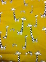 """Креп плательно-костюмный """"Забавные жирафики"""""""