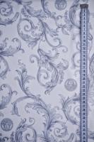 Ткань курточная ЗАВИТКИ Серый