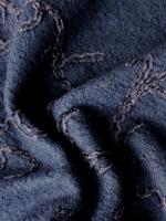 """Лоден буклированный """"Темно-синий"""" с вышивкой"""