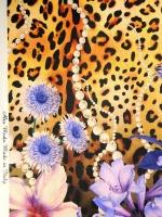 """Шелк """"Цветы на шкуре леопарда"""""""