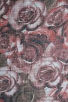 """Шифон """"Розы с пайетками"""" бежевый"""
