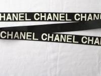"""Тесьма репсовая """"Логотип Chanel"""""""