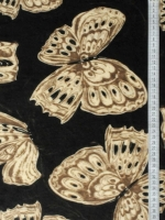 "Трикотаж (бербери) ""Бабочки"" темно-коричневый"