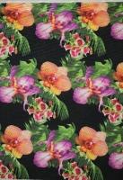 Вискоза «Крупные орхидеи» черный
